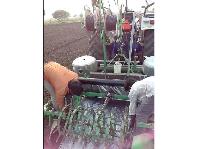 Model ABC 1004 Plastic Mulch Film Laying Machine - Agribiz Corporation